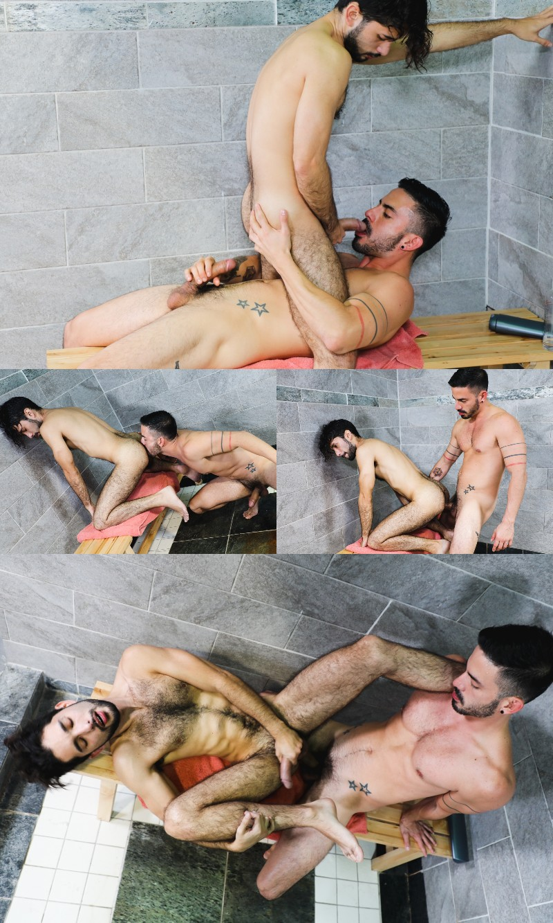 Hung Furball Jacob Connar Gets Dicked in the Shower