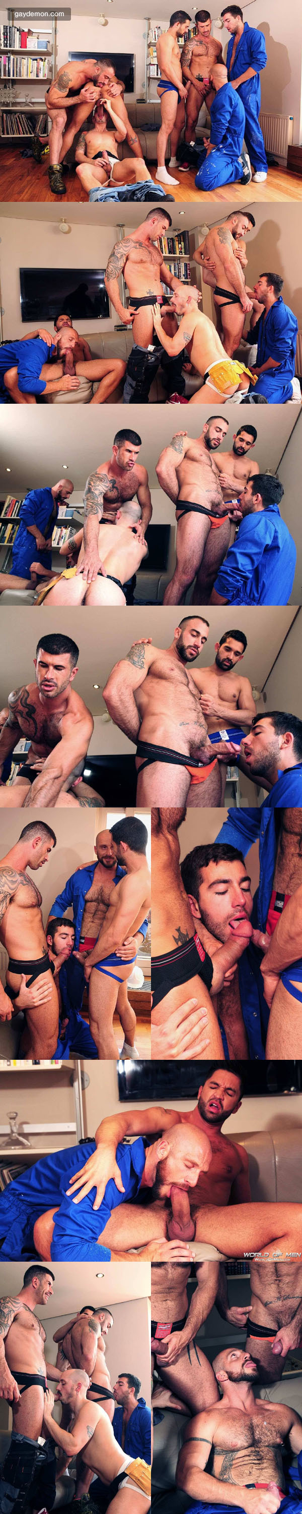 USA vs Europe In A Seven Man Oral Orgy