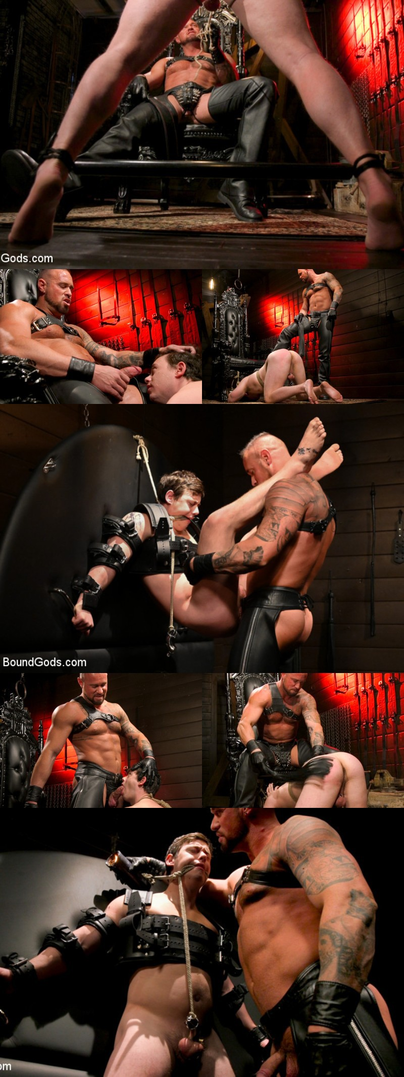 Muscle Hunk Michael Roman Trains a New Slave in His Dungeon