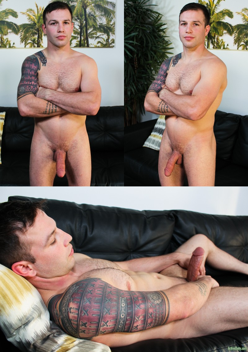 Tim Tank Strokes His Huge Soda-Can Thick Cock
