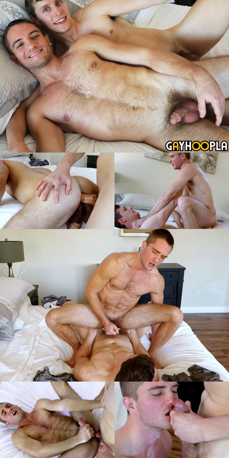 Adrian Monroe Fucks the Cum Out of Newcomer Logan Piper & Cums on his Face