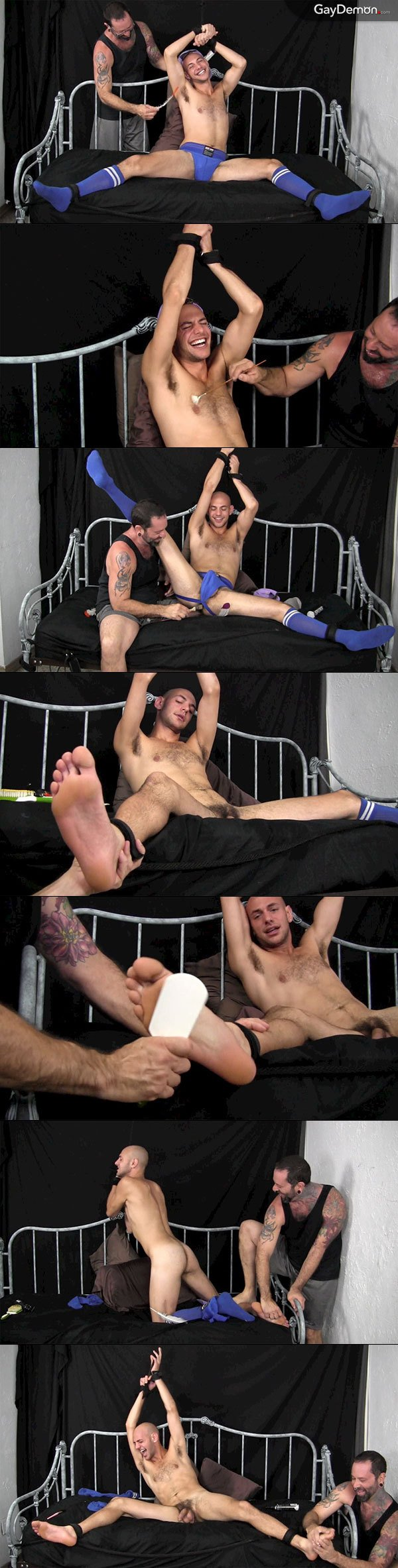Tied and Tickled in His Jockstrap