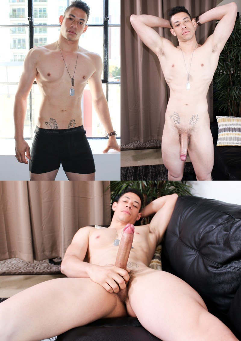 David Strong Strokes His Large Heavy-Hanging Cock