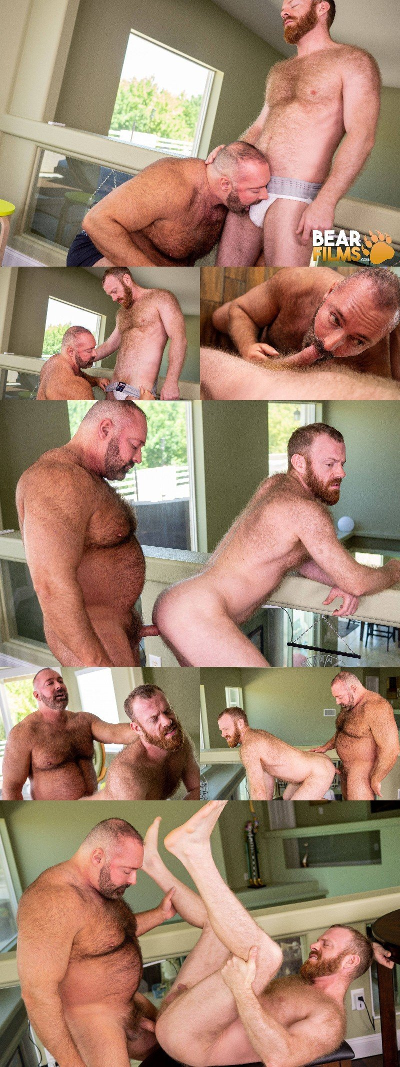 Hairy Top Brad Kalvo Pumps Ginger Russell Tyler in Sensual Man Fuck