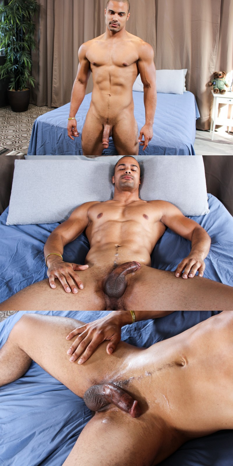 Arlington Jones Likes the Feel of his Package in Boxer Briefs