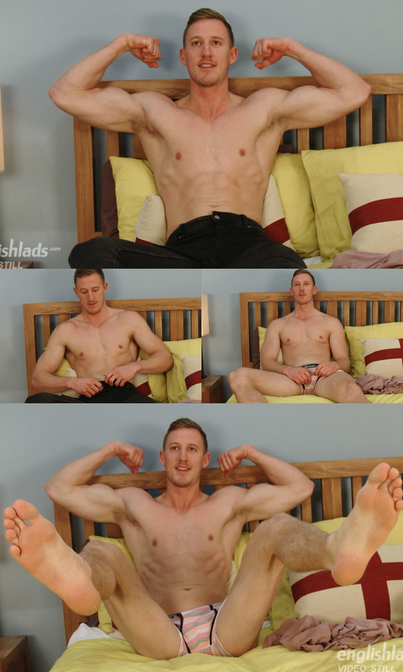 Blond Hung Brit Noah Goulding in his First JO Video