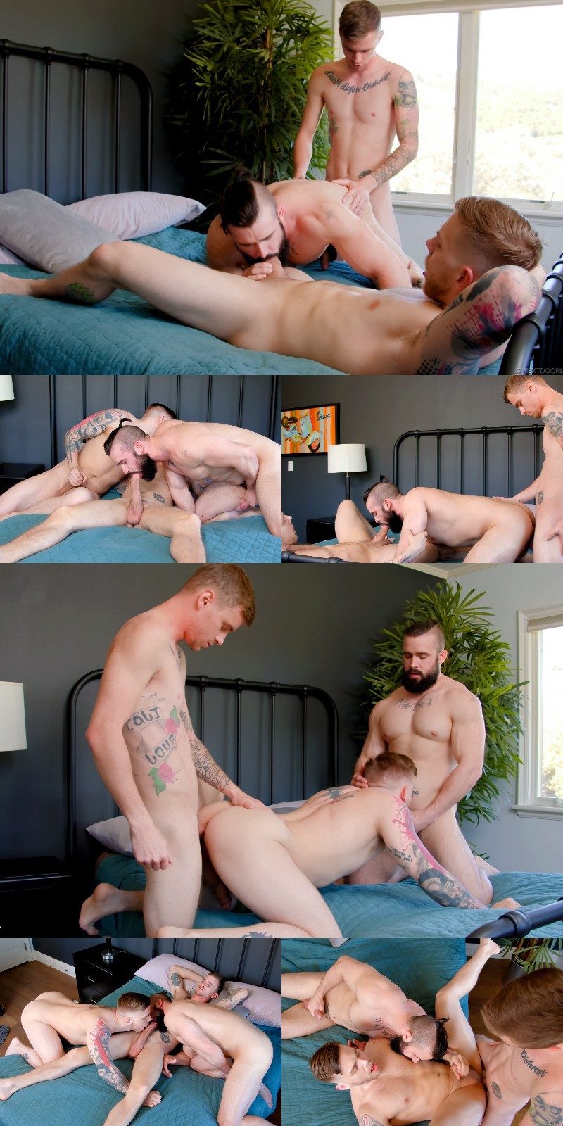 Mathias Gets Plugged in His Fifth Bottoming Scene -- And It's a Threeway!