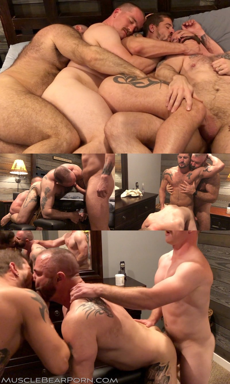 "Four Muscle Bears Banging in ""Southern Breeding"""