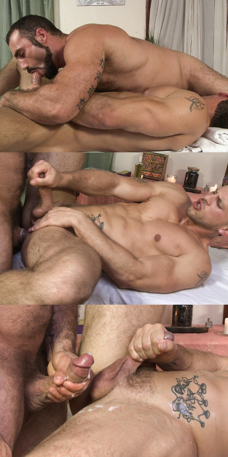 Muscular Gay Masseur Assfucked By His Straight Client