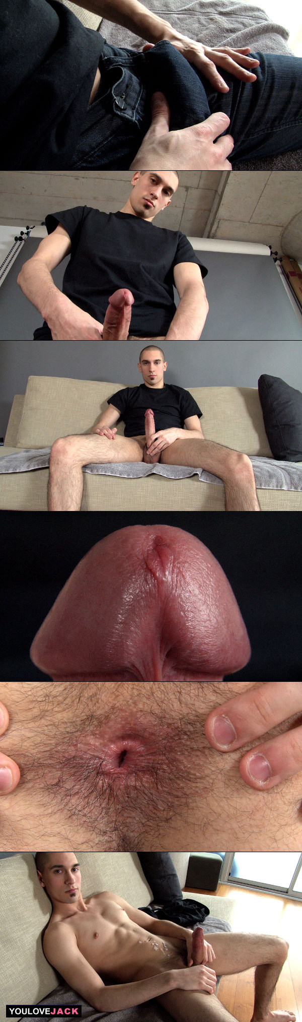 Straight Guy Shows Off His Asshole