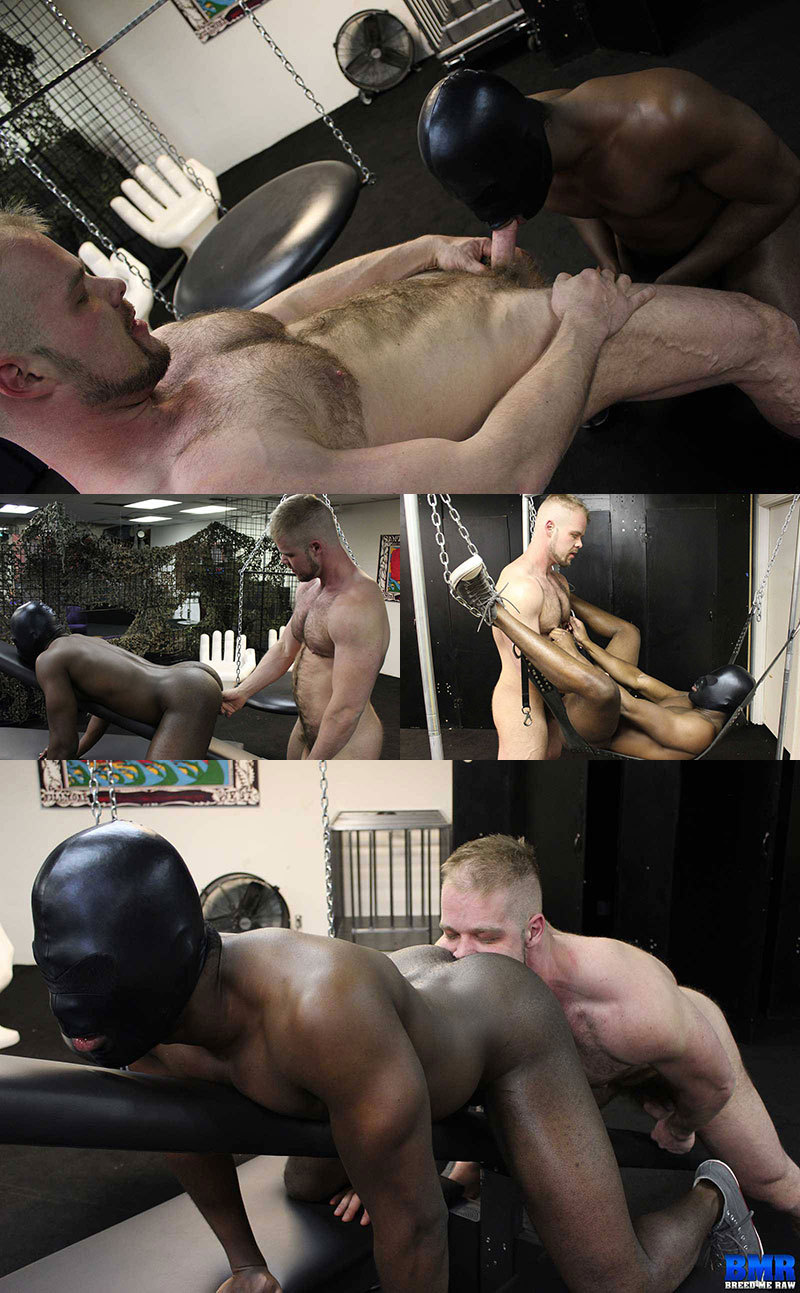 Hooded Black Guy Gets Ass Bred