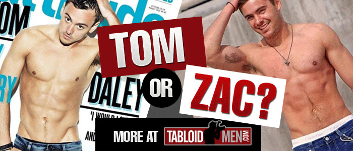 Who Is Hotter? Tom Daley or Zac Efron?