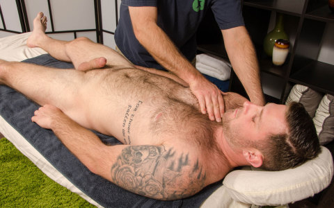 Hairy Blaze Gets A Massage at Spunkworthy