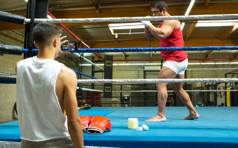 Boxing Ring Fuck with Alex Rim Screwing Muscle Hunk Draven Navarro