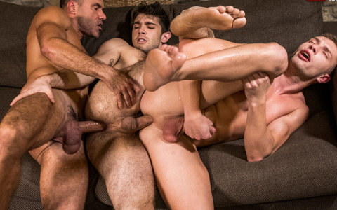 Two Russian Boys Take Care of Top's Rock-Hard Daddy Dick