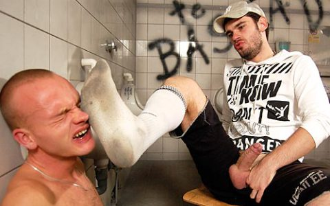 Cocks, Socks & Sneakers in Public Toilet