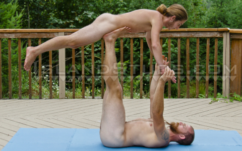 Straight Men Doing Nude Acro Yoga