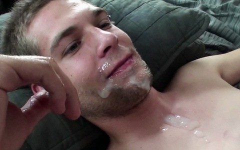 20-Year-Old Twink Swallows His First Load of Jizz