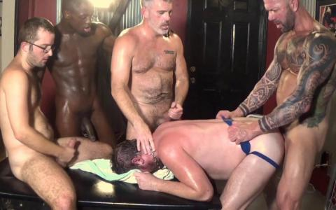 """That Slut London's Gang Bang"" & a Spit-Roasting Threeway"
