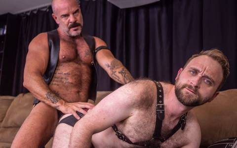 Hairy Daddy Jack Dyer Breeds His Boy & Gets a Cum Facial
