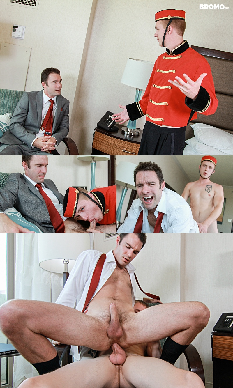 Bellboy Barebacks Hotel Guest