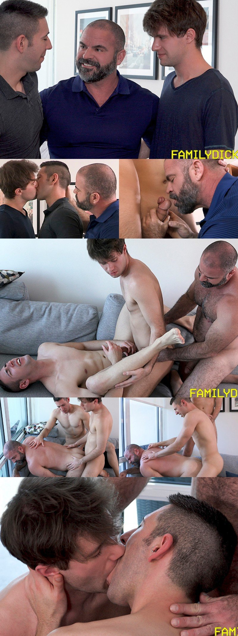 Stepsons Get A Sex Lesson in Topping Their Muscle Bear Stepfather