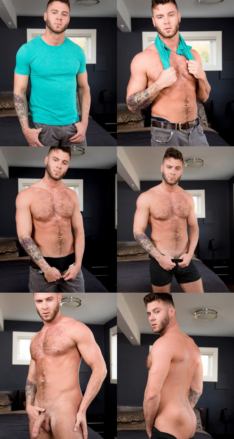 Sexy Guy James Ray Jacks Off in His First Video
