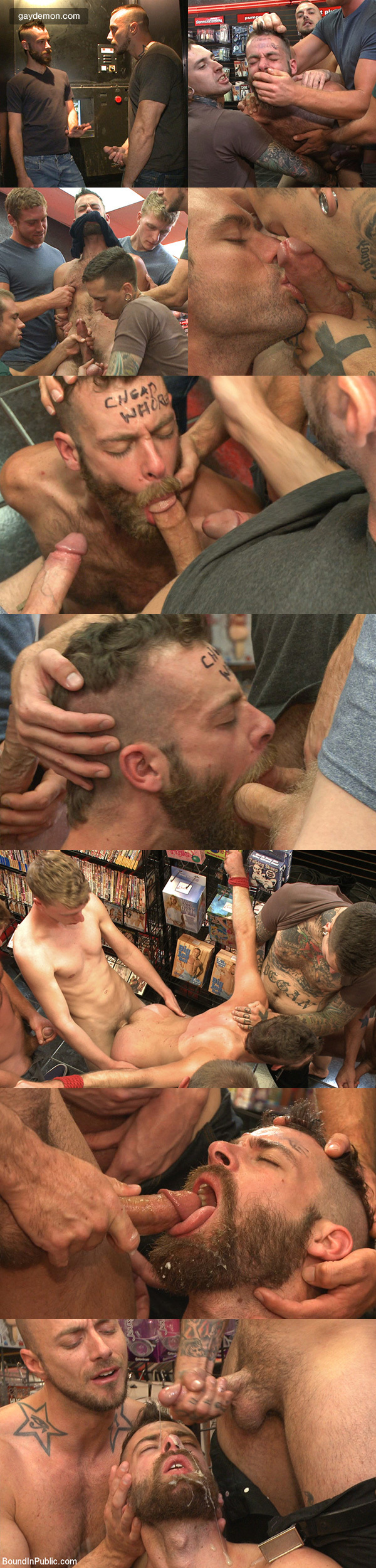 Bearded Hooker Pisses Off Horny Bookstore Cruisers