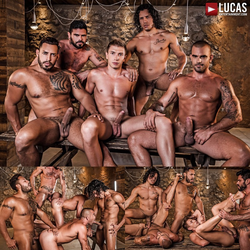 Damien Crosse Gets Gang Banged Raw