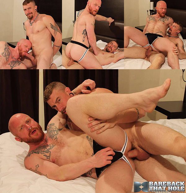 Sexy Daddy Riding Bald Ginger's Hungry Ass
