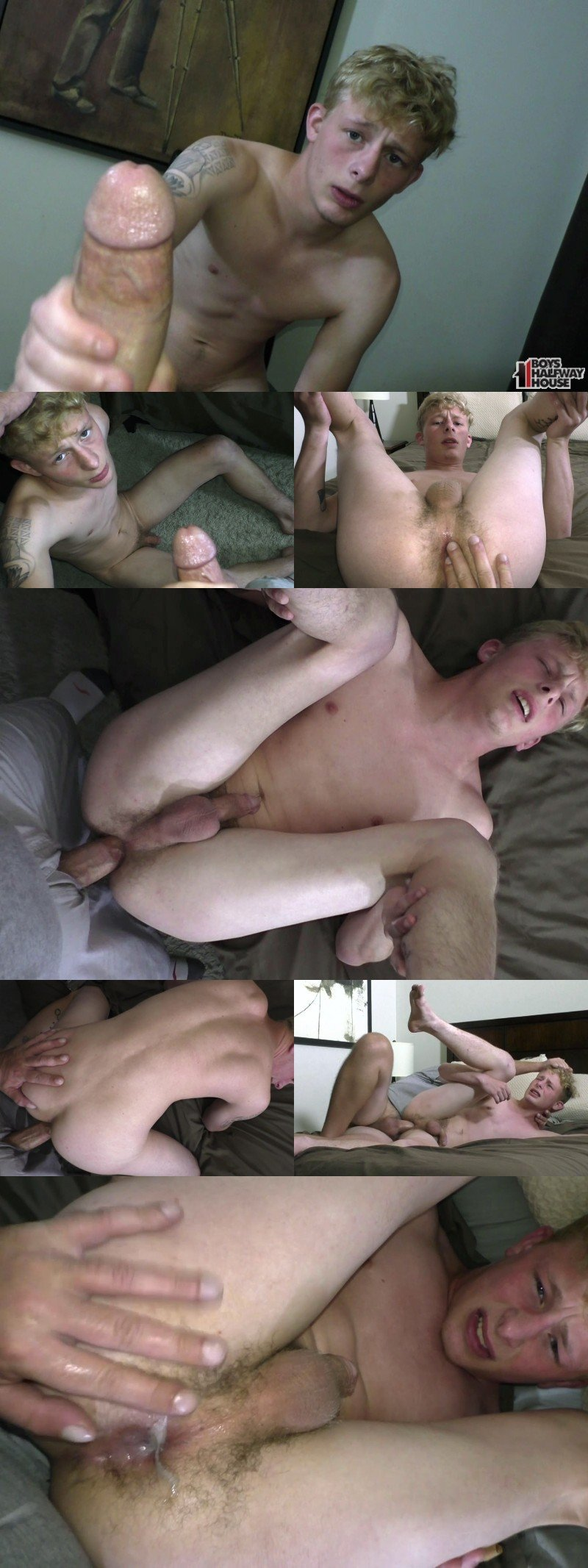Blond Delinquent's First Creampie