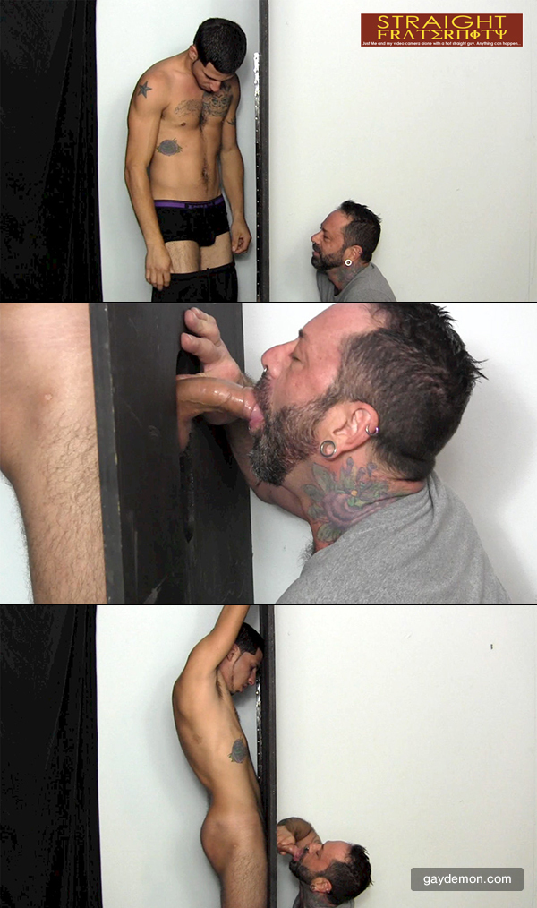 Fat Uncut Cock at Glory Hole