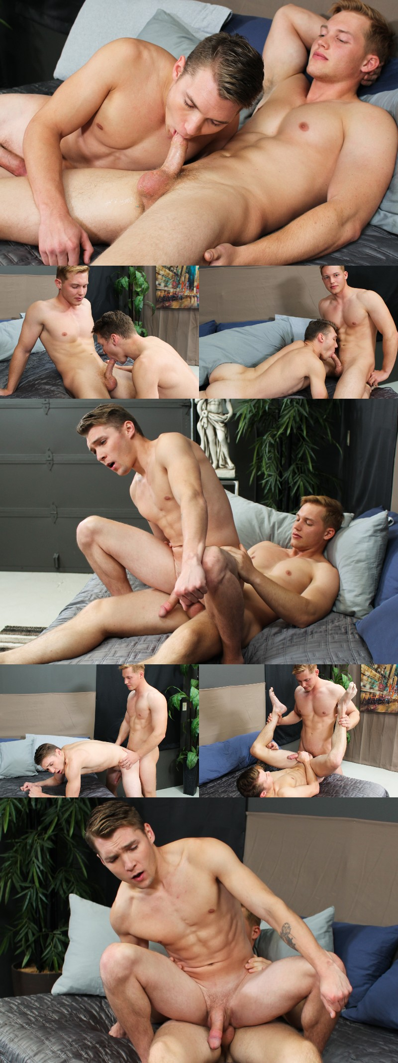 Straight Guy Jake Jordan Can't Take His Eyes Off His Dick Sliding in Elye Black's Hole