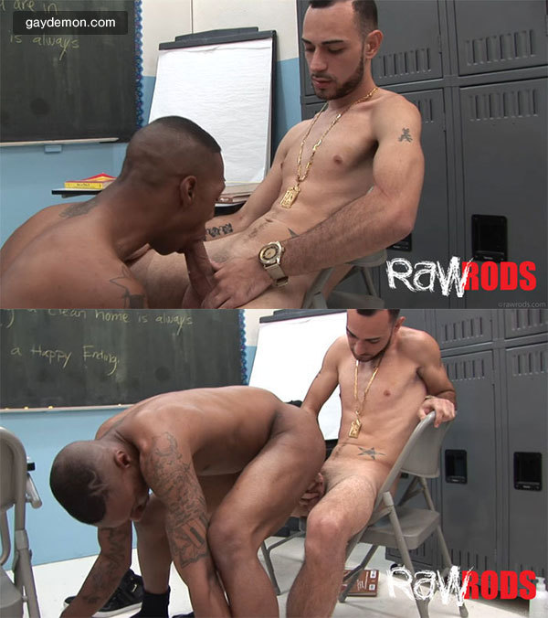 Interracial Classroom Fucking For Raw Rods