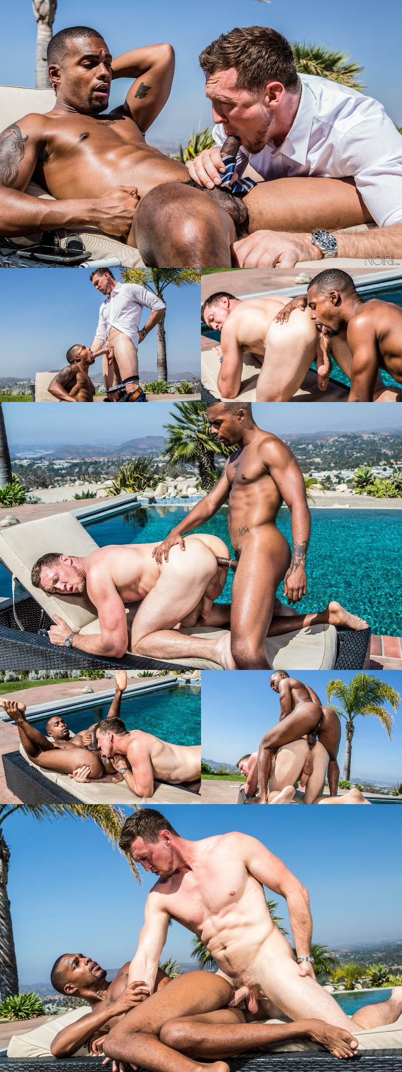 Jacen Zhu & Pierce Paris Flip-Fuck Poolside