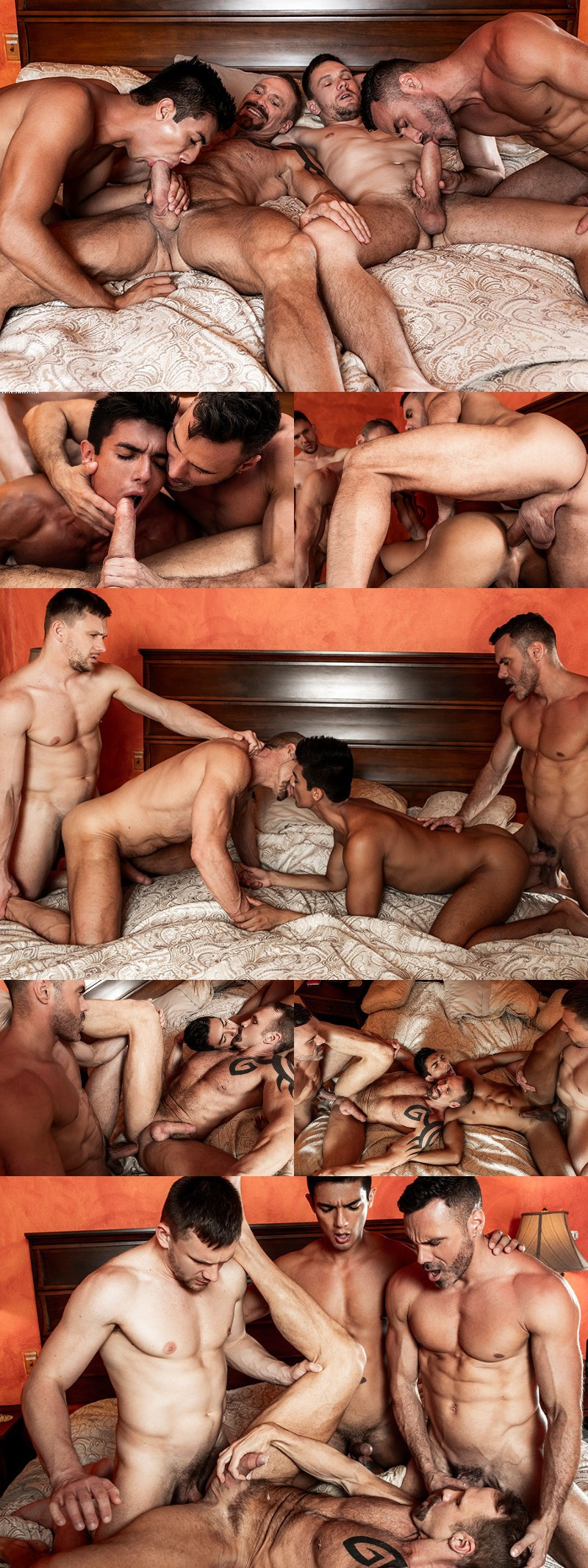 Dallas Steele Bottoms In His First Bareback Gang Bang