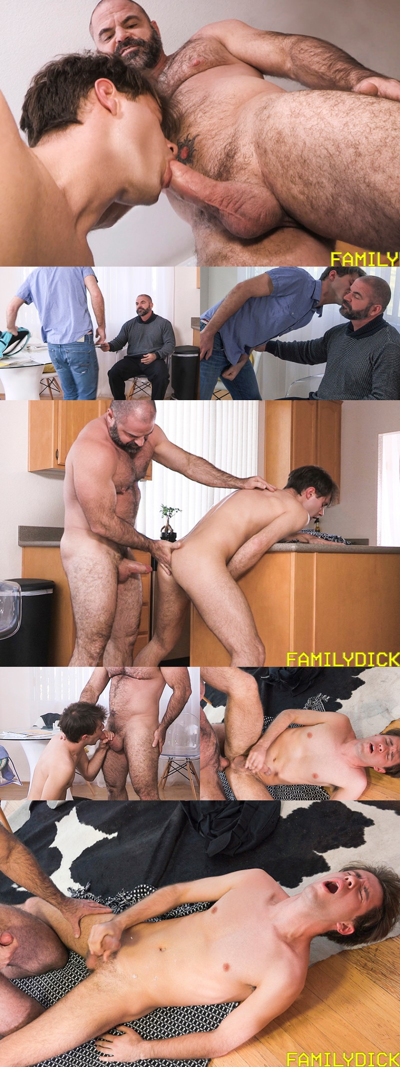 """Stepfather Throws a Fuck Into His Stepson in """"Morning Quickie"""""""