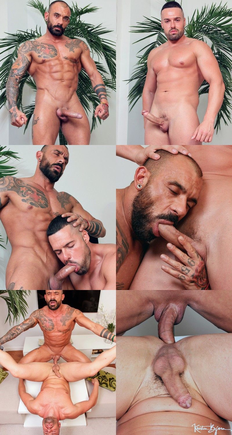 Inked Daddy Juanjo Rodriguez Drills Gabriel Lunna's Delicious Ass