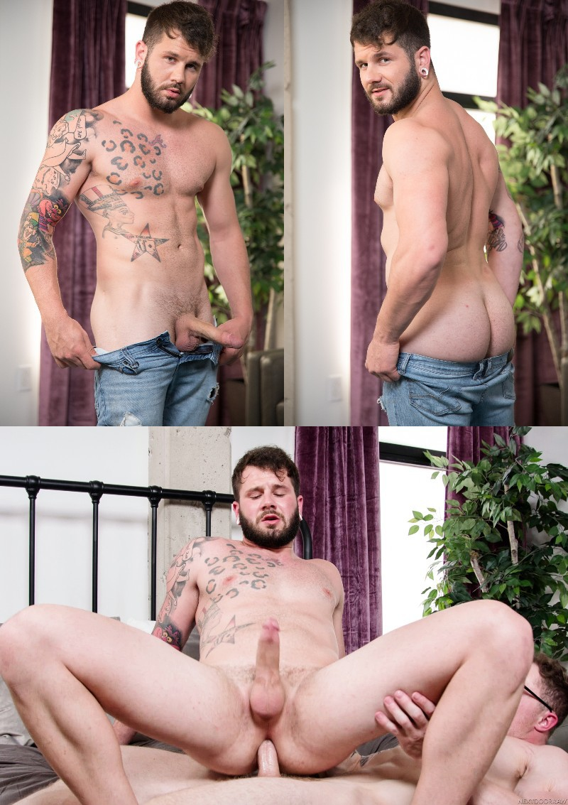 Bearded Hunk Johnny Hill Rides His First Cock