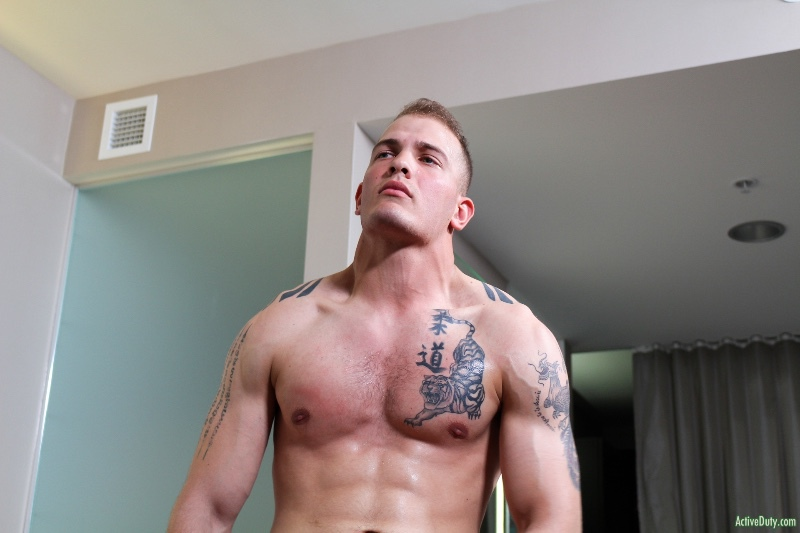 Tattooed Military Recruit, Chase at Active Duty