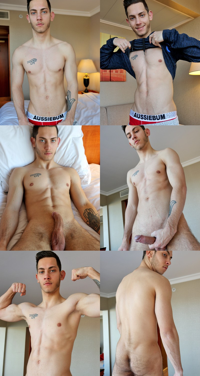 Hungarian Stud Brian Tanner Pumps Out His Load on the Bed