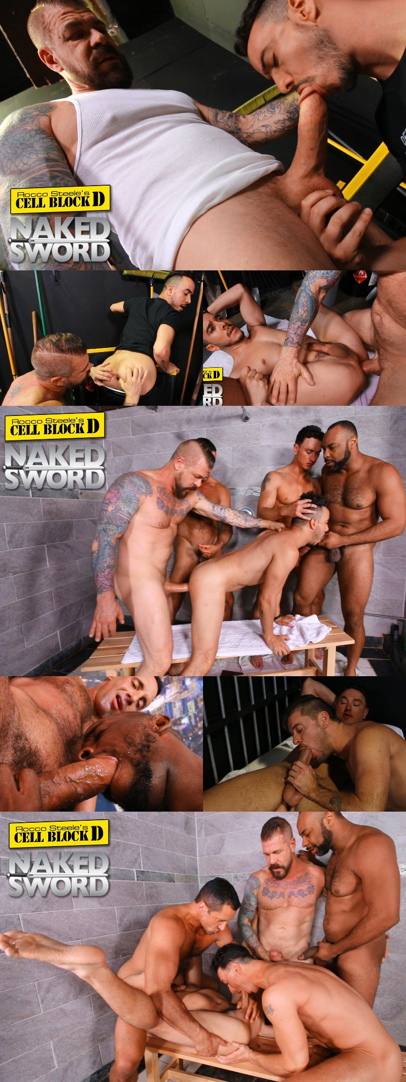 Rocco Steele Directs Dragon Media's Prison Sex Series & First Bareback Video