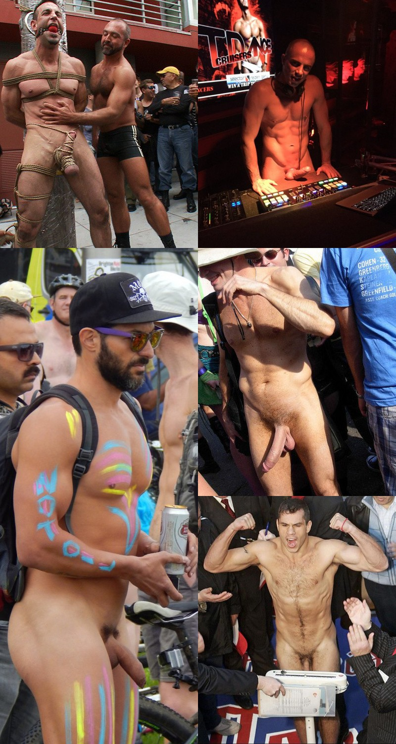 Public Exposure: Lots of Cock and Muscles