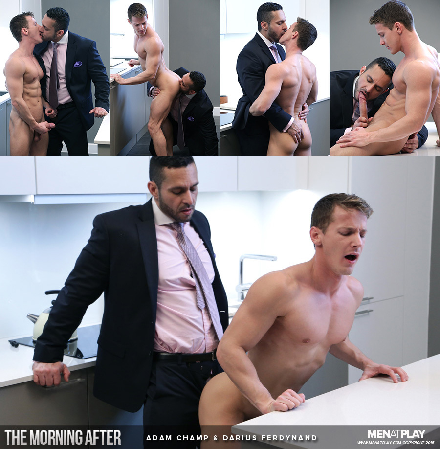 "Adam Champ & Darius Ferdynand in ""The Morning After"""