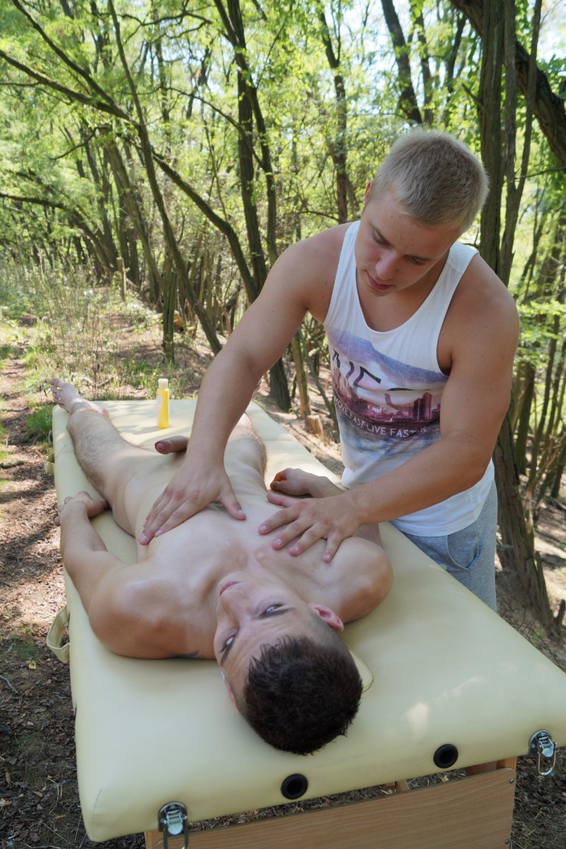 Outdoor Massage and Fuck