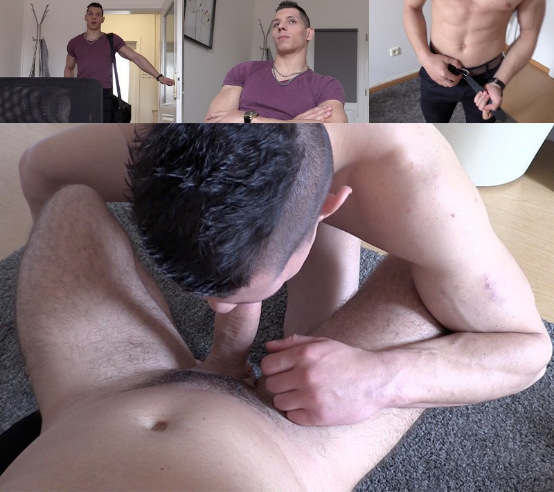 Handsome Fitness Instructor Trades His Ass for a Job