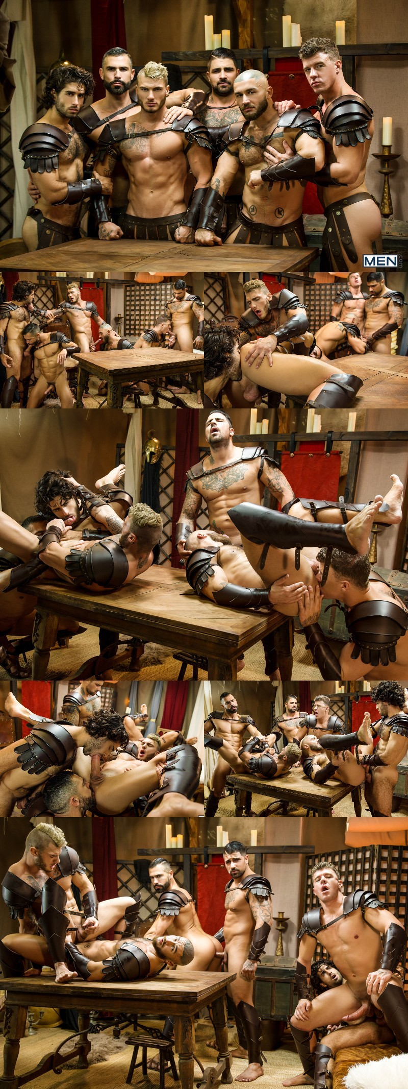 """""""Sacred Band Of Thebes"""" Wraps with a Six-Man Orgy"""