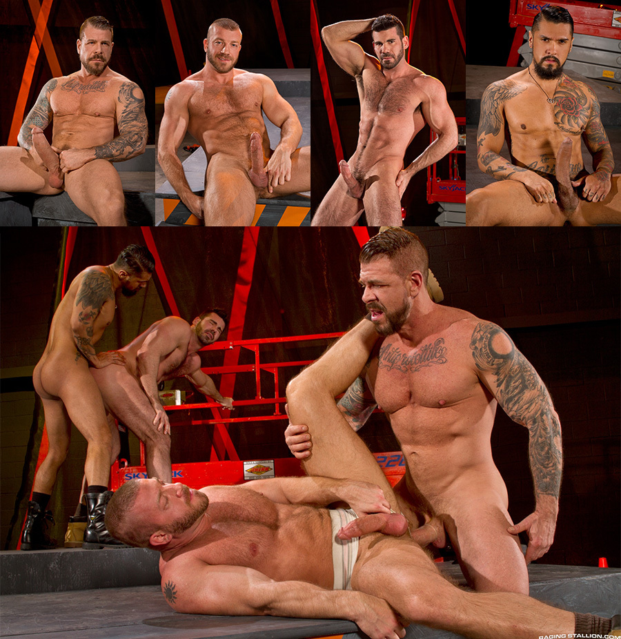 "Rocco Steele Fourway in ""Clusterfuck!"""