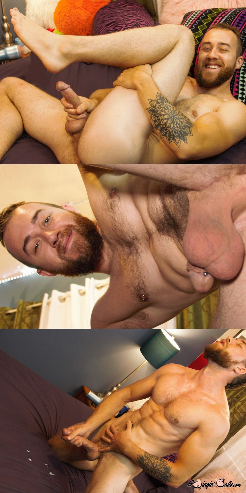 Scruffy John Powers Kneads His Nuts at New Site Swingin' Balls