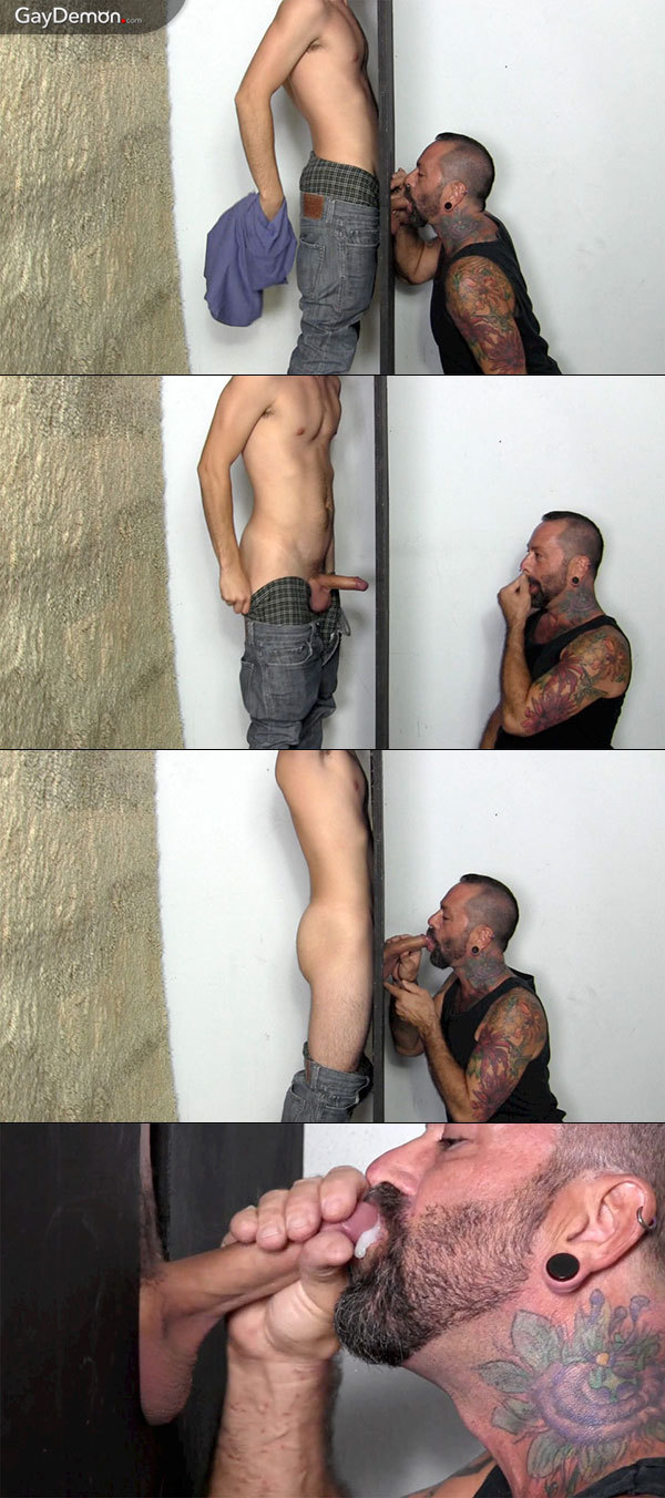 Straight Boy's First Gloryhole